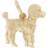 Gold Plate Small Poodle Dog Charm by Rembrandt Charms