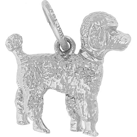 Sterling Silver Small Poodle Dog Charm by Rembrandt Charms