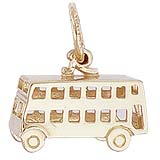 14K Gold Double Decker Bus Charm by Rembrandt Charms