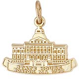 Gold Plated Boston State House Charm by Rembrandt Charms