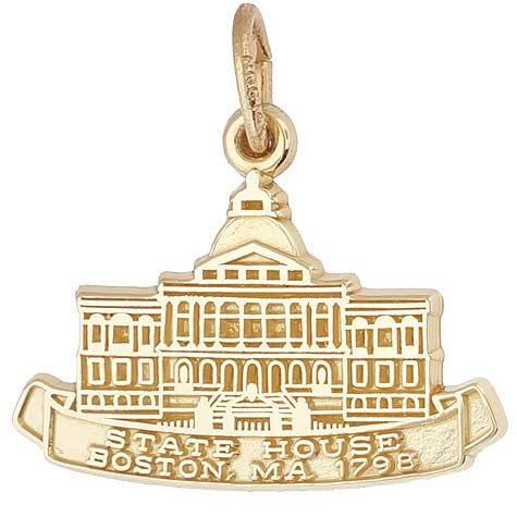 14K Gold Boston State House Charm by Rembrandt Charms