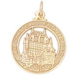 Gold Plated Chateau Frontenac Charm by Rembrandt Charms