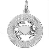 14K White Gold Maryland Crab Charm by Rembrandt Charms
