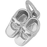Sterling Silver Baby Booties Accent Charm by Rembrandt Charms