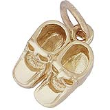 Gold Plate Baby Booties Accent Charm by Rembrandt Charms