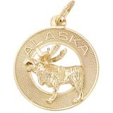 10K Gold Alaska Moose Ring Charm by Rembrandt Charms