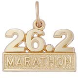 10k Gold 26.2 Marathon Charm by Rembrandt Charms