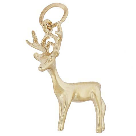 10K Gold Buck Deer Charm by Rembrandt Charms