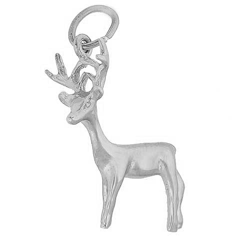 14K White Gold Buck Deer Charm by Rembrandt Charms