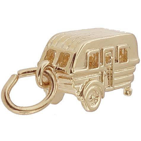 14K Gold Camping Trailer Charm by Rembrandt Charms