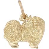 Gold Plate Maltese Dog Charm by Rembrandt Charms