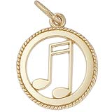 10K Gold Music Note Charm by Rembrandt Charms