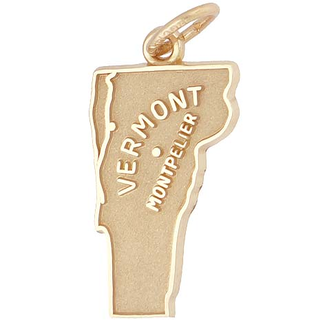 14k Gold Montpelier, Vermont Charm by Rembrandt Charms