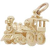 14k Gold Steam Engine Train Gold Charm by Rembrandt Charms