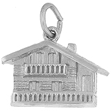 Sterling Silver Swiss Chalet Charm by Rembrandt Charms