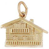 14k Gold Swiss Chalet Charm by Rembrandt Charms