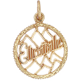 Gold Plate Ellicottville Charm by Rembrandt Charms