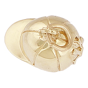 Gold Plated Riding Hat Charm by Rembrandt Charms
