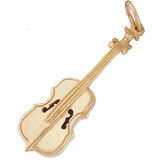 10k Gold Cello Charm by Rembrandt Charms