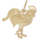 14K Gold Rooster Charm by Rembrandt Charms