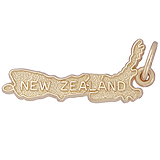 10k Gold New Zealand Map Charm by Rembrandt Charms