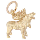 Gold Plated Moose Charm by Rembrandt Charms