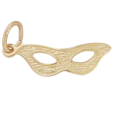 14K Gold Masquerade Mask Charm by Rembrandt Charms