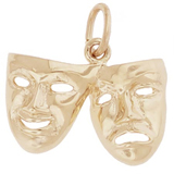 10K Gold Comedy and Tragedy Mask Charm by Rembrandt Charms