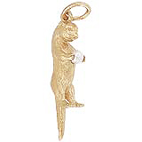 14k Gold Sea Otter & pearl Charm by Rembrandt Charms