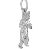 14K White Gold Standing Bear Charm by Rembrandt Charms