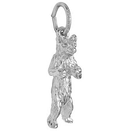 Sterling Silver Standing Bear Charm by Rembrandt Charms