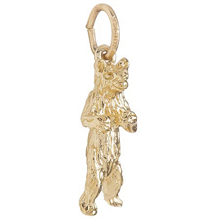 14K Gold Standing Bear Charm by Rembrandt Charms