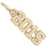 10k Gold Year 2015 Charm by Rembrandt Charms