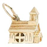 10K Gold Opening Church Charm by Rembrandt Charms