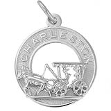 Sterling Silver Charleston Carriage Charm by Rembrandt Charms