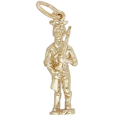 14K Gold Minute Men Charm by Rembrandt Charms