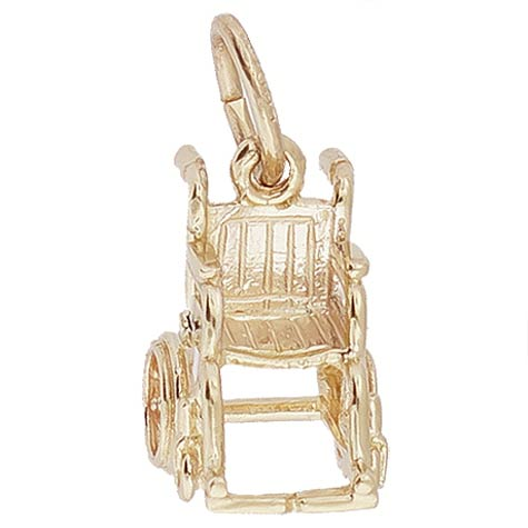 Gold Plate Wheelchair Charm by Rembrandt Charms