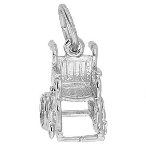 14K White Gold Wheelchair Charm by Rembrandt Charms
