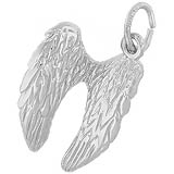 14K White Gold Angel Wings Charm by Rembrandt Charms