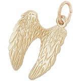 10K Gold Angel Wings Charm by Rembrandt Charms