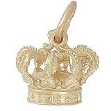 Gold Plated Crown Charm by Rembrandt Charms