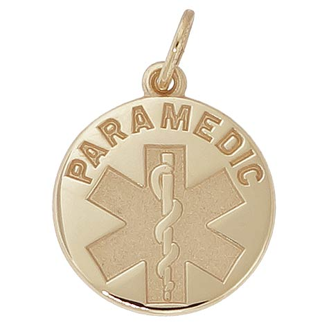 14k Gold Paramedic Charm by Rembrandt Charms