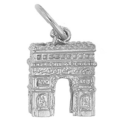 Sterling Silver L'Arc De Triomphe Charm by Rembrandt Charms