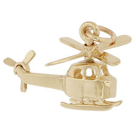 14k Gold Small Helicopter Charm by Rembrandt Charms