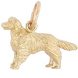 Gold Plated Golden Retriever Charm by Rembrandt Charms