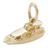 Gold Plate Yacht Charm by Rembrandt Charms