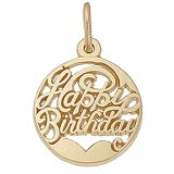 14k Gold Happy Birthday Charm Cutout by Rembrandt Charms