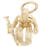 10K Gold Hockey Goalie Charm by Rembrandt Charms
