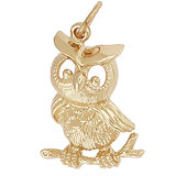 Gold Plated Horned Owl Charm by Rembrandt Charms