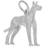 14K White Gold Great Dane Dog Charm by Rembrandt Charms